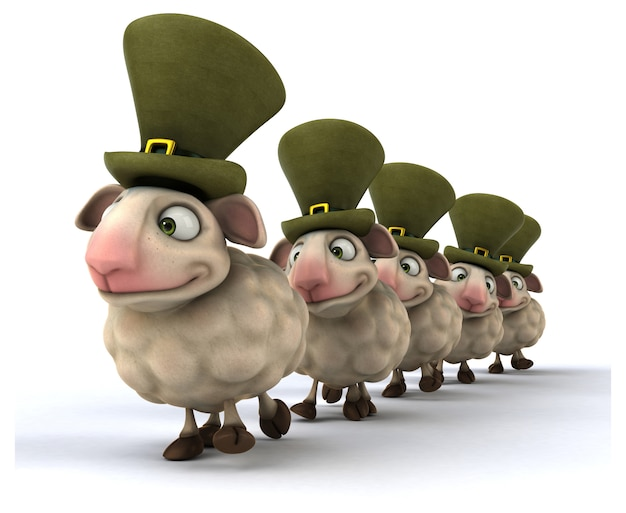 Animación divertida de ovejas