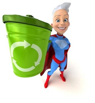 Animación de mujer superhéroe