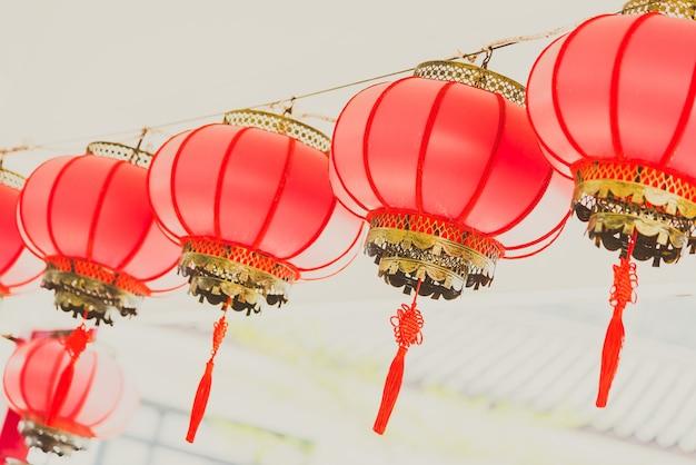 Año linternas afortunados celebración del festival