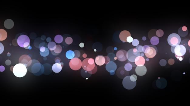 Año nuevo 2020. fondo bokeh. resumen de luces feliz navidad como telón de fondo. luz de brillo. partículas desenfocadas aisladas en negro