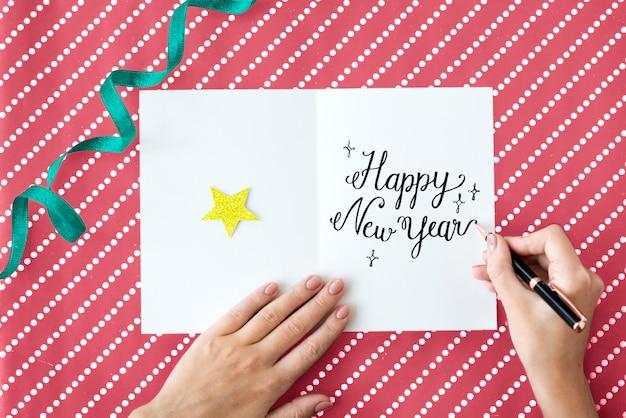 Año nuevo anual celebra el concepto de evento de diciembre