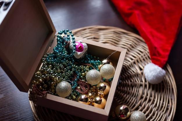 Año nuevo y concepto de navidad bodegón photo