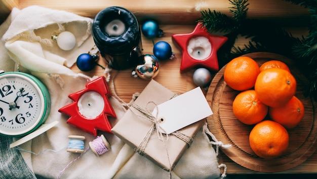 Año nuevo y fondo de navidad