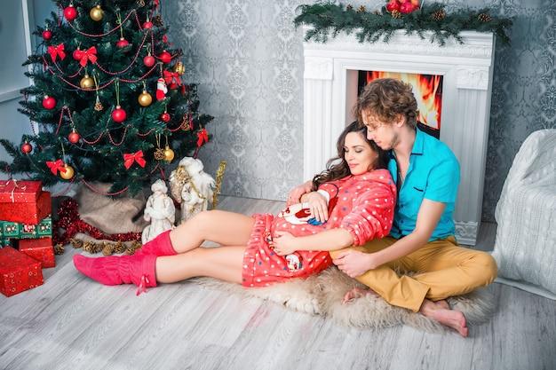 Año nuevo y navidad en el círculo familiar.