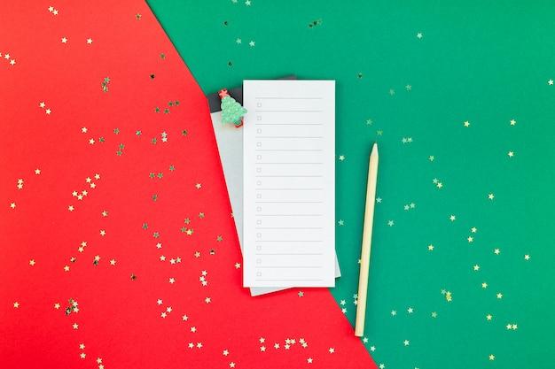 Año nuevo navidad lista de tareas planificador de eventos