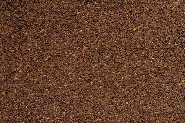 Antecedentes de café molido. de cerca