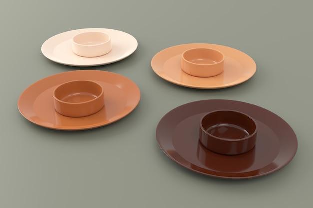 Antecedentes de la cerámica. representación 3d