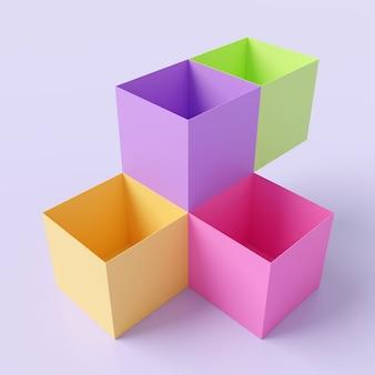 Antecedentes de la forma de la caja. representación 3d