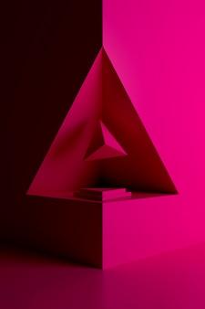 Antecedentes de forma geométrica. representación 3d