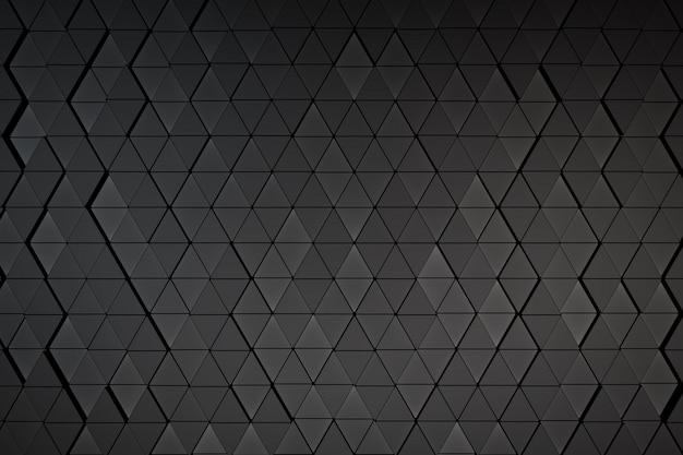 Antecedentes de una variedad de triángulos. render 3d