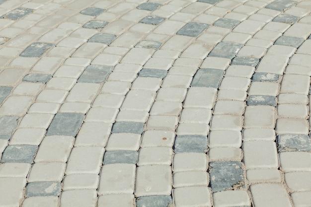 Antecedentes de la vieja vista de pavimento de adoquines desde arriba