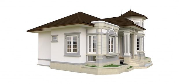 Antigua casa de estilo victoriano.