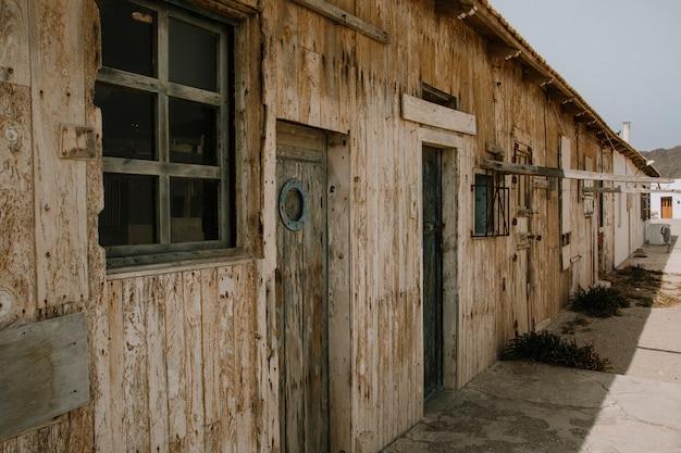 Antigua casa retro de pescador.