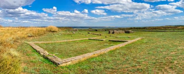 Antigua colonia griega olbia en parutino, ucrania