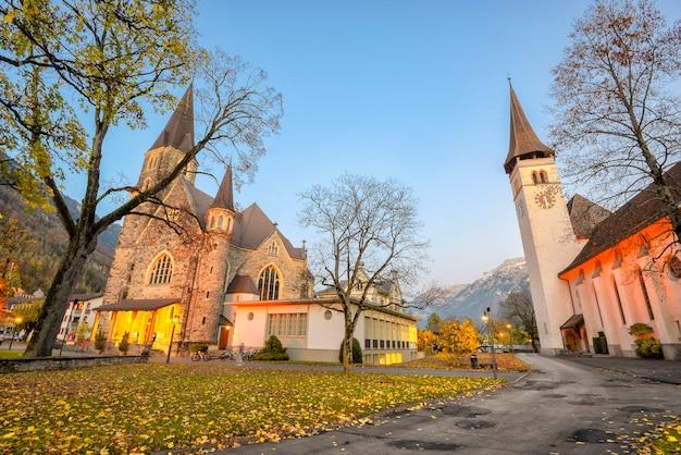 Antigua iglesia catolica en interlaken