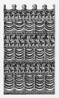Antigua ilustración de la gramática del ornamento de owen jones.