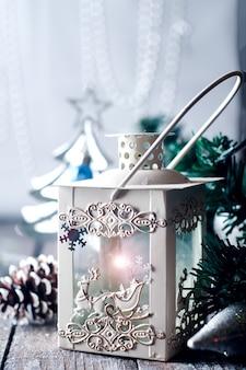 Antigua lámpara vintage hermoso diseño de interiores