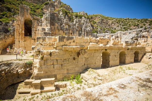 Antiguas ruinas licias de myra en turquía demre