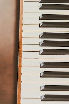 Antiguas teclas de piano vintage.
