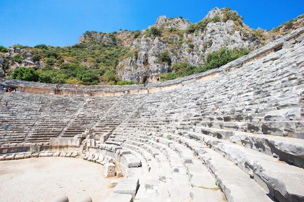 Antiguo anfiteatro en myra, turquía