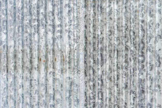 Antiguo fondo de textura de hoja galvanizada