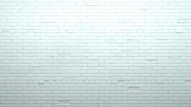 Antiguo muro de ladrillo blanco