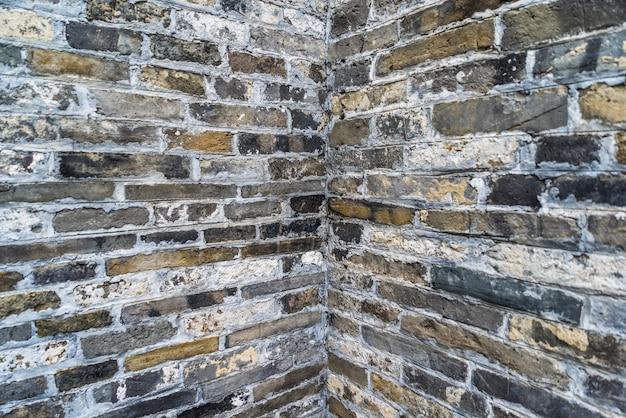 Antiguo muro de ladrillo, mapa de fondo