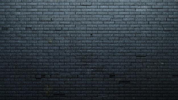 Antiguo muro de ladrillo negro