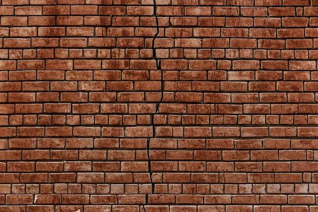 Antiguo muro de ladrillo rojo