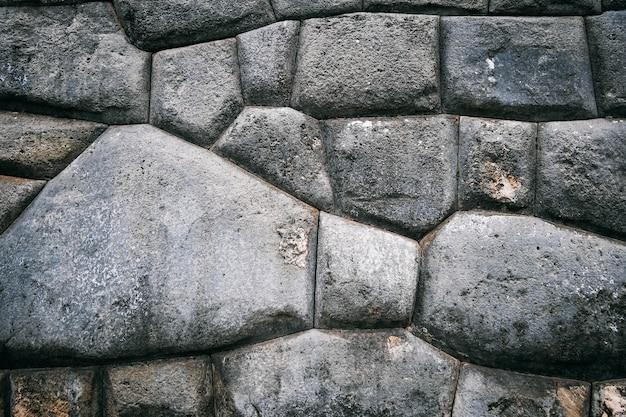 Antiguo muro de piedra fuerte de sacsayhuaman