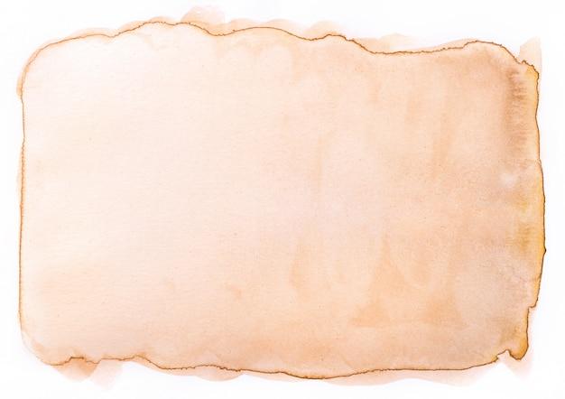 Antiguo papel vintage envejecido con pintura de acuarela