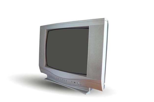 Antiguo televisor de tubo crt y tecnología antigua