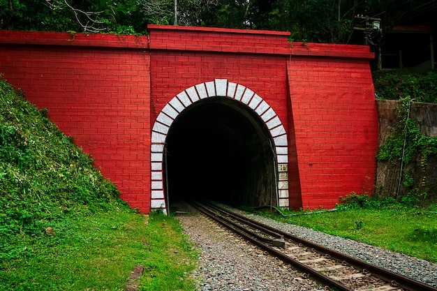 Antiguo túnel ferroviario de ladrillo