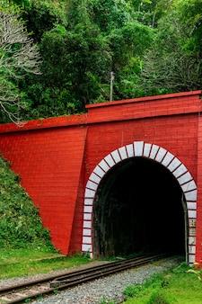 Antiguo túnel ferroviario en montaña