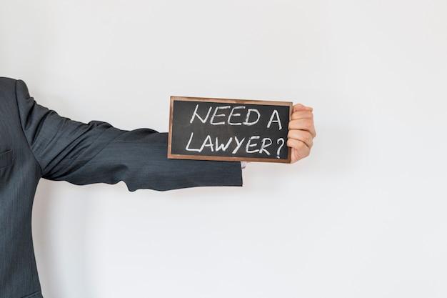 Anuncio de abogado