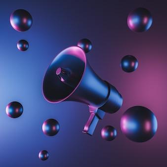 Anuncio mínimo de megáfono