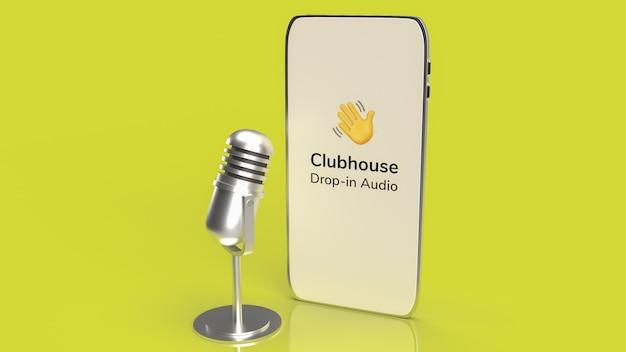 Aplicación clubhouse para colocar la aplicación de chat de audio en el teléfono inteligente