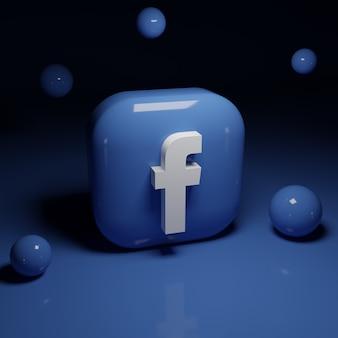 Aplicación de logo de facebook 3d