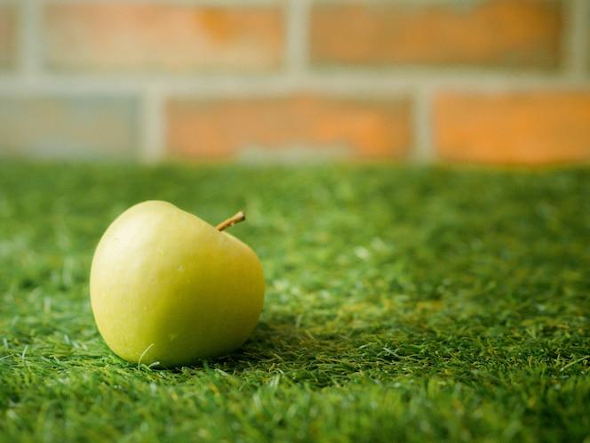 Apple cae sobre el vidrio en la temporada de invierno