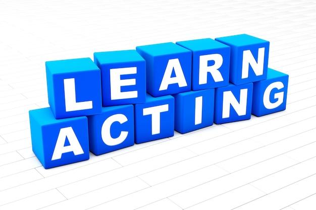 Aprender a actuar ilustración de la palabra