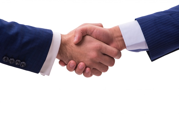Apretón de manos de negocios aislado
