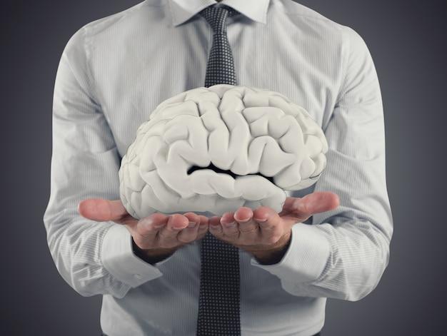 Apuesta por la capacidad del cerebro humano. representación 3d