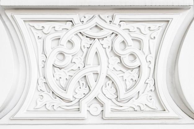 Árabe oriental musulmán islámico blanco patrón oriental