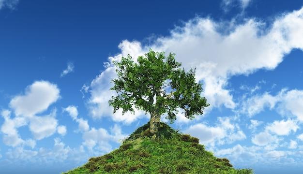 Árbol en lo alto de una colina
