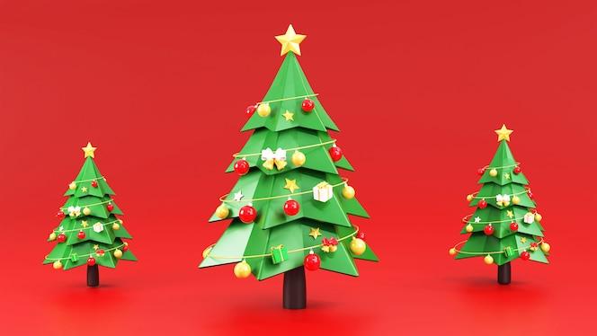 Árbol de navidad con adornos navideños