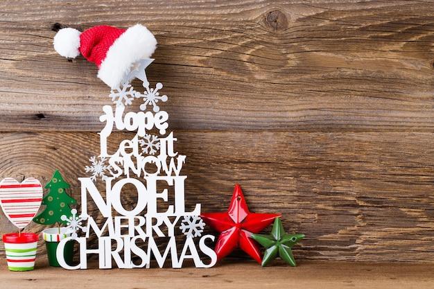 Árbol de navidad, deseo de noel, abeto de las letras.