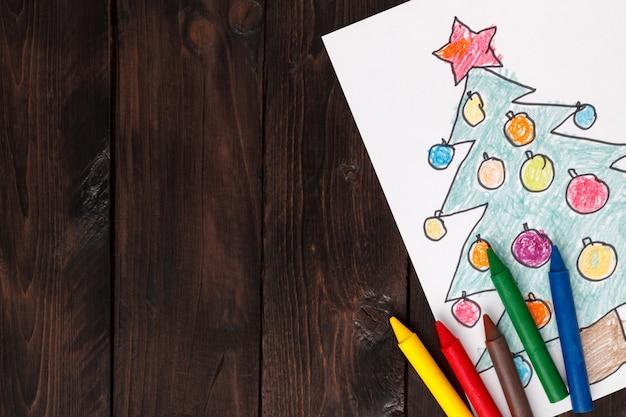 árbol de navidad dibujado por niños