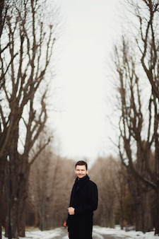Árboles de invierno solo chico con estilo