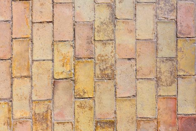 Arcilla antigua textura de pisos de ladrillo en el castillo de alicante