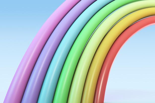Arco iris abstracto, render 3d